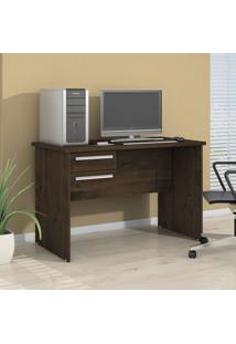 Mesa Para Computador 2 Gavetas Byte Valdemóveis Castanho