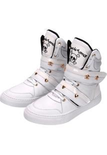 Tênis Sneaker Cheia De Marra Branco