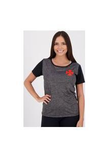 Camiseta Vasco Line Feminina Preta