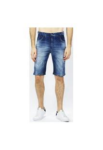 Bermuda Jeans Used Emporio Alex Jeans Azul