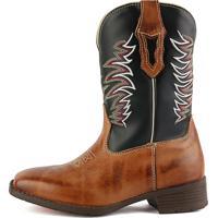 ce0fb07d45fa8 Bota Country Sapatofran Texana Bico Quadrado Tribal Preto