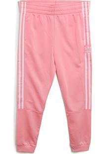 Calça Adidas Originals Menino Logo Rosa