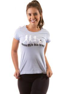 Camiseta Irun Baby Look Algodão Azul