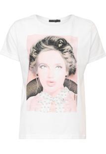Camiseta Fiveblu Aplicações Branca