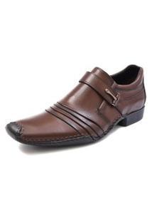 Sapato Social Pisaforte Solado Costurado Manualmente Castanho