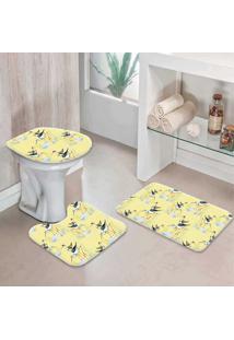 Jogo Tapetes Para Banheiro Garça - Único
