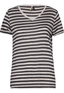 Camisetas Khelf Camiseta Feminina Listras Listra