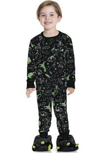 Pijama Estampado Preto