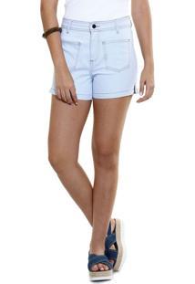 Short Feminino Em Jeans Detalhe Fenda Marisa