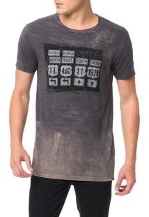 Camiseta Calvin Klein Jeans Estampa Placas Surtom Grafite - G