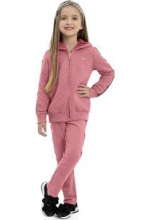 Conjunto Infantil Jaqueta E Calça Rosa