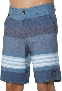 Bermuda Vlcs Passeio Elastano Masculino - Masculino-Azul