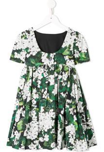 Dolce & Gabbana Kids Vestido Floral - Verde