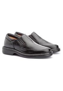 Sapato Social Masculino Couro Confortável Dia A Dia Elegante Branco 36 Preto