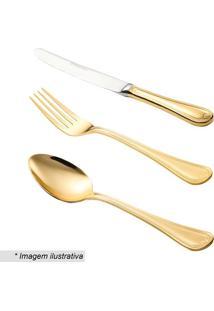Faqueiro Geneve- Inox & Dourado- 130Pçs- Rojemacwolff