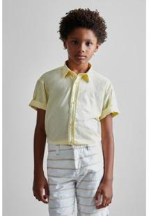 Camisa Infantil Leve Verano Reserva Mini Masculina - Masculino-Amarelo