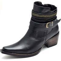 db42b447c Dafiti. Bota Country Bico Fino Top Franca Shoes Preto