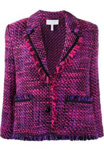 Escada Sport Tweed Single Breasted Jacket - Rosa