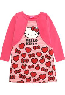 Vestido Marlan Baby Infantil Hello Kitty Rosa