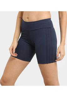 Bermuda Adidas 3 Stripes Tgh Feminina - Feminino-Azul+Chumbo