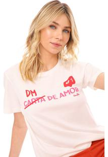 Camiseta Cantão Dm De Amor Off-White