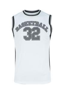 Camiseta Regata Adams Basketball Bas002 - Masculina - Branco