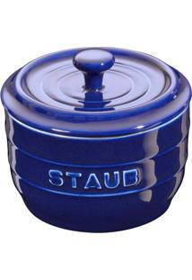Porta Sal Cerâmica Azul Marinho Staub