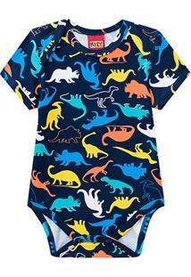 Body Bebê Kyly Cotton Estampado Masculino - Masculino-Azul
