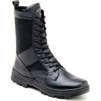 Bota Atron Shoes Coturno Militar Couro Preto - Masculino 013553bf4e