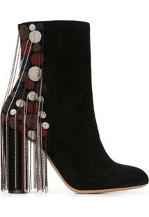 Chloé Ankle Boot Modelo 'Liv' - Preto