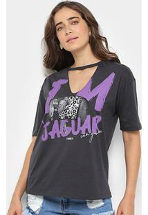 Camiseta Sommer Estampada Jaguar Feminina - Feminino