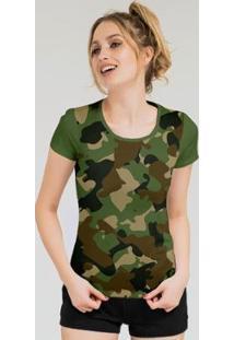 Camiseta Stompy Feminina Estampada 06 - Feminino-Verde