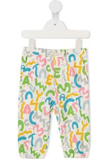 Stella Mccartney Kids Calça Esportiva Com Estampa De Logo - Branco