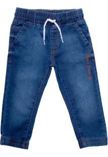 Calça Jeans Infantil Oznes Jogger Menino Azul - 1