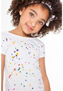 Camiseta Splash Reserva Mini Feminina - Feminino-Off White