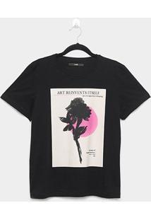 Camiseta Forum Estampada Art Feminina - Feminino-Preto