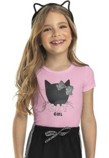 Body Infantil Menina Cat Girl Rosa
