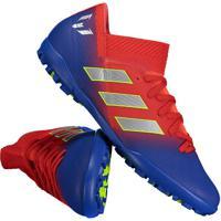 Chuteira Adidas Nemeziz Messi 18.3 Tf Society Vermelha 69be34503249e