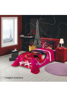 Edredom Ladybug® Solteiro- Pink & Vermelho- 150X220Clepper