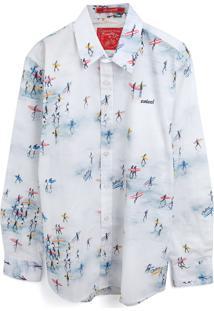 Camisa Colcci Fun Menino Estampa Branca
