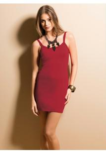 Mini Vestido De Alça (Vermelho)