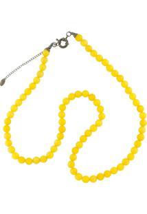 Colar La Madame Co Maxi Colar Amarelo - Amarelo - Feminino - Dafiti