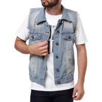 134c211700 Colete Jeans Mucs Masculino - Masculino-Jeans