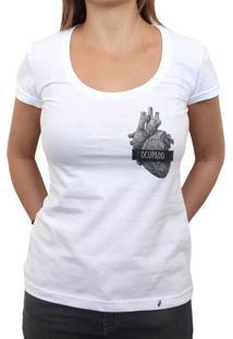 Coração Ocupado - Camiseta Clássica Feminina