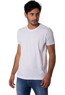 Camiseta Basic Logomarca Gola Redonda Thiago Brado 1107000010 Branco