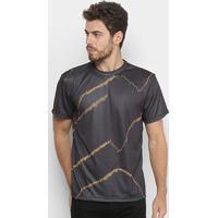 82e4b7e37 Camiseta Esporte Estampada Reserva Manga Curta Masculina - Masculino-Preto