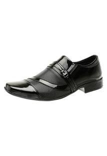 Sapato Social Torani Liso Envernizado Verniz Preto