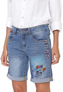 Short Jeans Desigual Catrina Azul