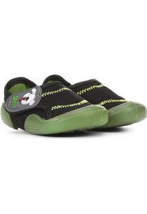 Sapato Infantil Klin New Confort Masculino - Masculino-Preto+Verde