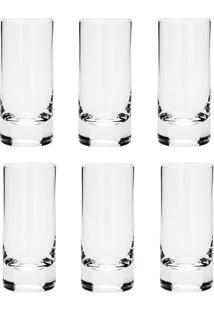 Conjunto 6 Copos De Cristal Para Shot Set-Bar Favorit 65Ml - Bohemia - Transparente